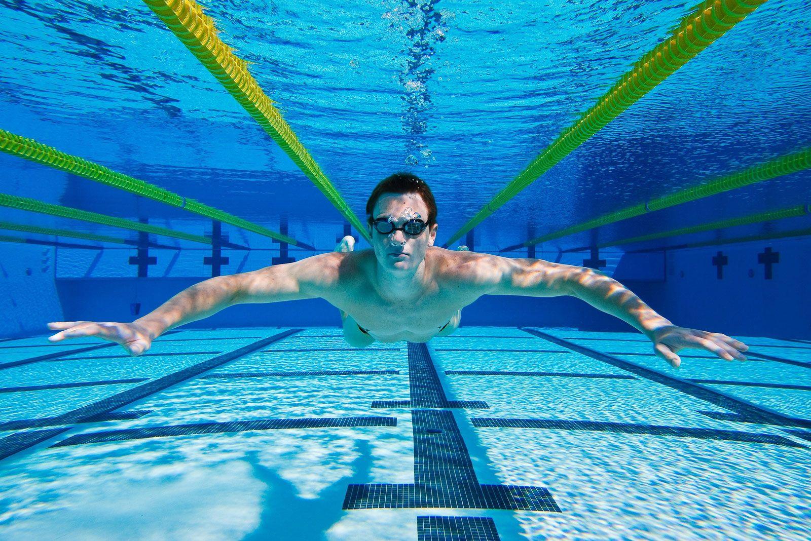 gafas de natación de la manera correcta