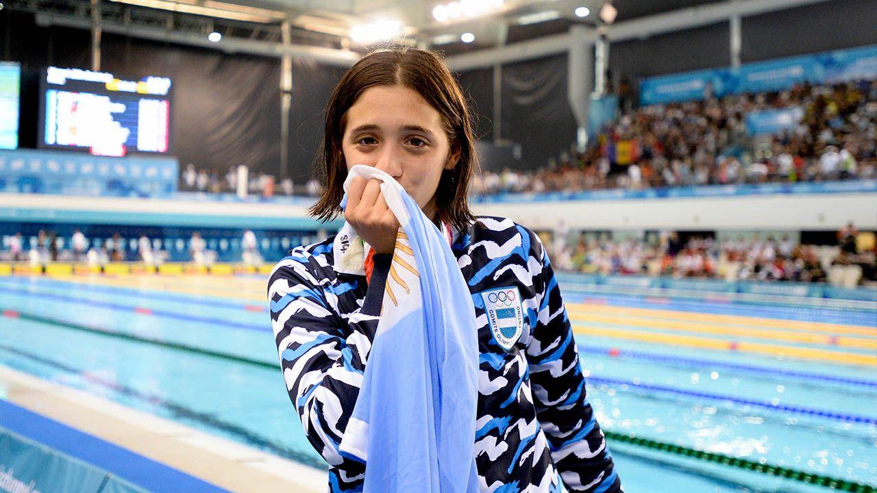 medalla de oro nadadora Delfina Piganatiello